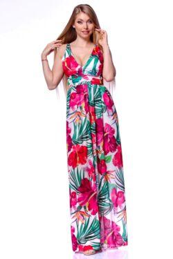 Trópusi mintás maxi ruha - Quartz Rose Floral Print