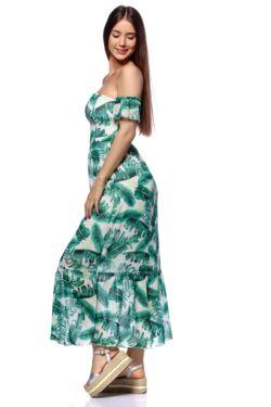 Vállnélküli maxi ruha - Mint Floral Print