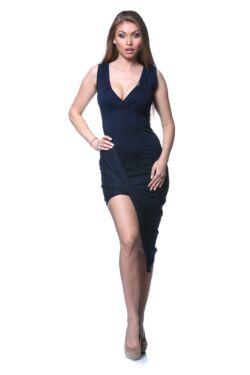 Twisted Hem Mini Dress