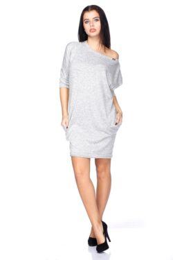 Marled Knit Oversized  Mini Dress