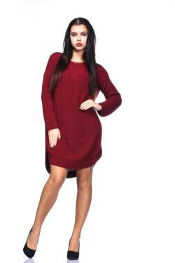 Rounded Hem Knit Mini Dress