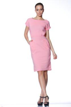 Midi ruha - Hot Pink
