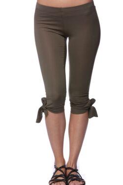 Kötős halász leggings - Khaki