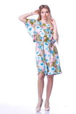 Megkötős derékú mini ruha - Khaki