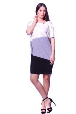 Mini ruha - Black - Melange Grey - Cream