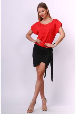 Mini ruha - Black - Red