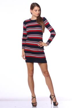 Mini ruha - Dark Blue - Red