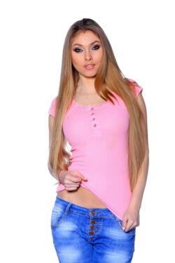 Bordás felső - Light Pink