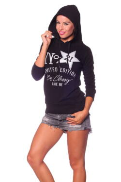 Pulóver - Black Black Melange Grey