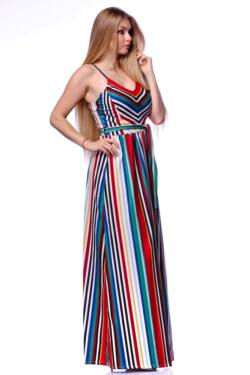 Color Block csíkos maxi ruha - Colour Block