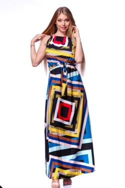 Maxi ruha - Colour Block