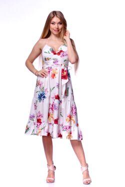 Virágmintás mini ruha - White Floral Print