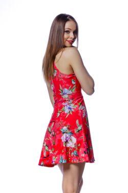 Virág mintás mini ruha