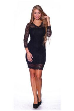 Csipkés mini ruha - Black