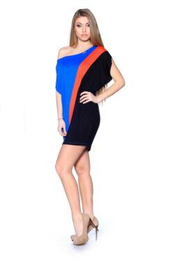 Több színből varrott, laza felső. Color Block oversize ruha