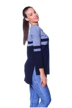 Több színből varrott pulóver
