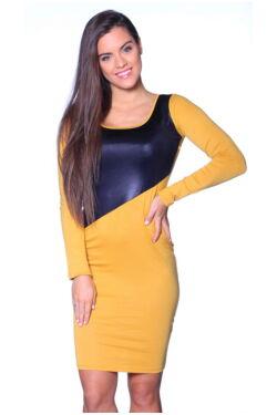 Több színből varrott ruha - Yellow