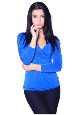 Átlapolt Top - Rolyal Blue
