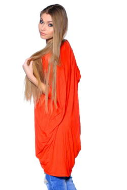 Wrap front dress Coral