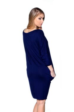 Oversized Top Dark Blue - Gold