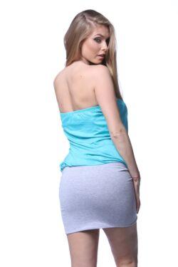 Mini ruha - Melange Grey - Mint