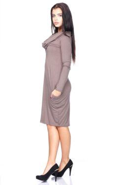 Kámzsa nyakú Mini ruha - Capuchino