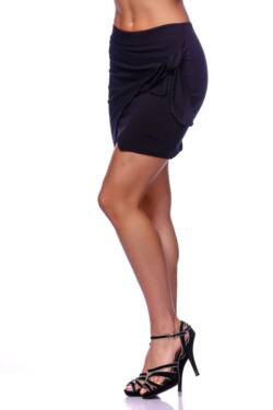 Selt Tie Wrap Front Skirt - Black