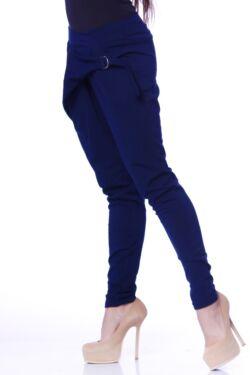 Elől átlapolt megkötött nadrág - Dark Blue