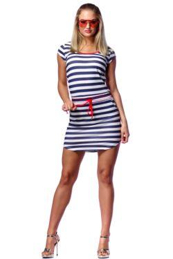 Mini ruha - White - Navy Blue - Red