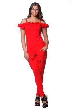 Dupla fodros pántos ruha - Red