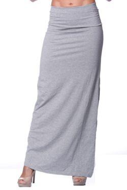 Maxi szoknya - Melange Grey