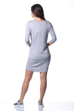 Redőzött oldal mini ruha