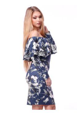 Virág mintás ruha - Dark Blue - White floral print