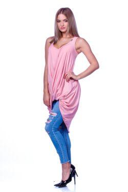 Csavart aljú mini ruha - Quartz Rose