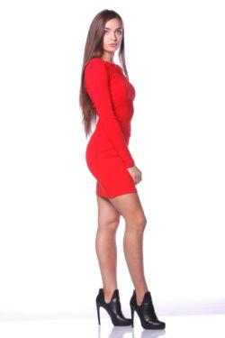 Mini ruha - Red