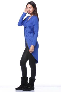 Csavart elejű ruha - Royal Blue