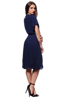 Megkötős átlapolt mini ruha - Dark Blue