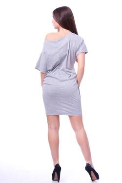 laza midi ruha - Melange Grey