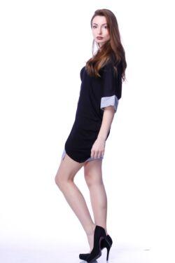 Mini ruha - Black - Melange grey