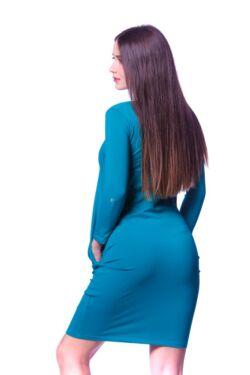 Redőzött oldal zsebes mini ruha