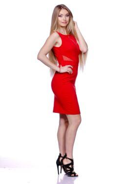 Tüll betétes ruha - Red