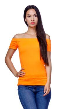 Vállra húzott felső - Neon Orange
