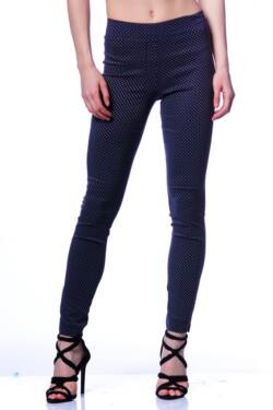 Legging - Dark Blue Dolka Dot