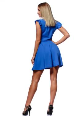 Fit And Flare Mini Dress With Ribbon