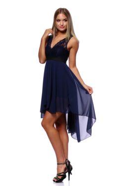 Cipkés mini ruha - Dark Blue