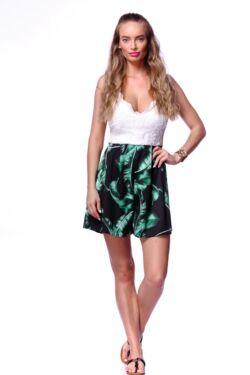 Trópusi mintás overál - White - Black - Green