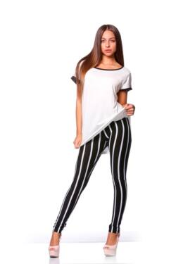 Leggings - Black White