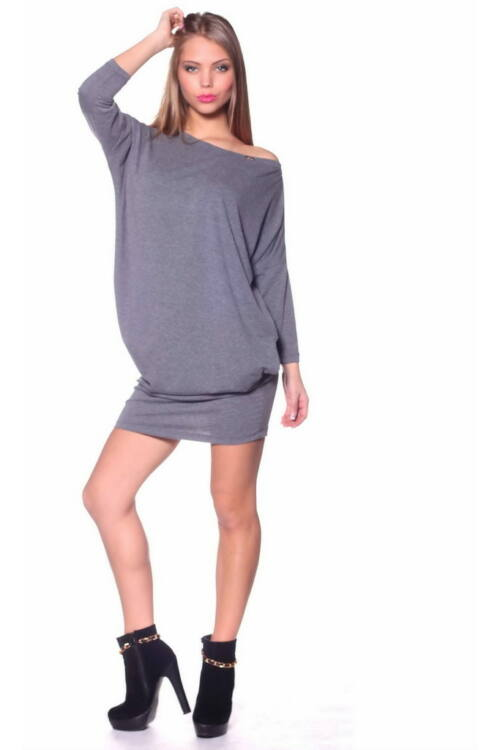 Mini ruha - Mellange Dark Grey
