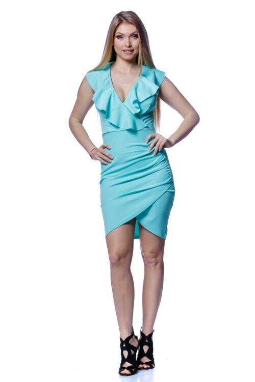 Fodros átlapos mini ruha - Mint