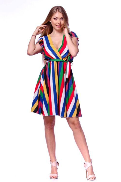 Csíkos mini ruha - Colour Block